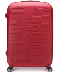 Baldinini Logo luggage - Red