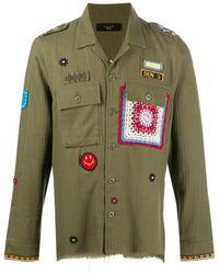 Amiri Patch-embellished Military Shirt - Green