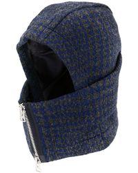 Sacai Zipped Hooded Hat - Blue