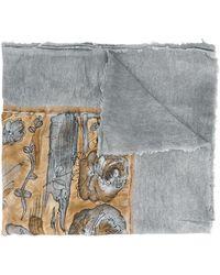 Avant Toi - Printed Square Scarf - Lyst