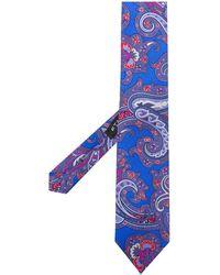 Etro Cravatta con stampa paisley - Blu