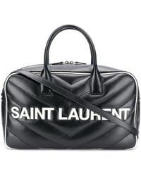 Saint Laurent Gesteppte Reisetasche - Schwarz