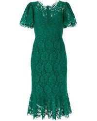 Dolce & Gabbana - レース ミディドレス - Lyst