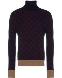 9ba27290a Gucci Bordeaux Cashmere Turtleneck in Red for Men - Lyst