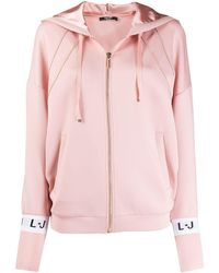 Liu Jo Zip Hooded Sweatshirt - Pink