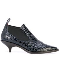 Sies Marjan Kora 50 クロコダイルパターン ブーツ - ブルー