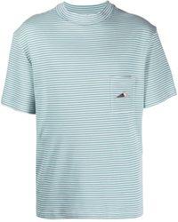 Anglozine ストライプ Tシャツ - ブルー