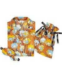 Fendi Floral Pajama Set - Brown