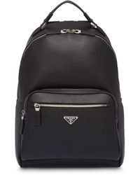 Prada Saffiano Leather Backpack - Black