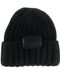 Ultrachic Cable Knitted Beanie - Black