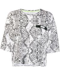 DKNY スネークスキンパターン Tシャツ - ホワイト