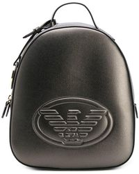 Emporio Armani - Logo Embossed Backpack - Lyst