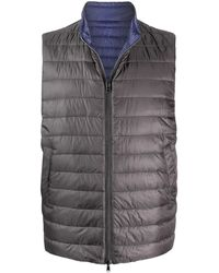 Herno Quilted Reversible Gilet - Grey