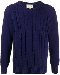 Gucci ケーブルニット セーター - ブルー