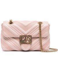 Pinko キルティング ショルダーバッグ - ピンク