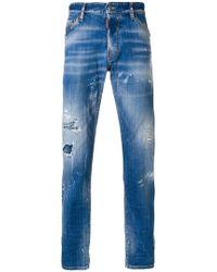 DSquared² - Distressed Slim Jeans - Lyst