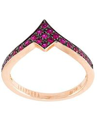 Anapsara - 'kiss' Ruby Ring - Lyst