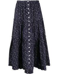 Marc Jacobs The Prairie Skirt - Blue