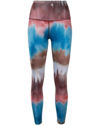 Beyond Yoga Stripe Lux Mantra High Waisted Midi Legging - Bleu