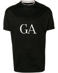 Emporio Armani ロゴ Tシャツ - ブラック
