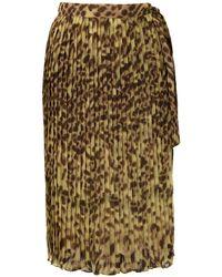 Adriana Degreas Саронг С Леопардовым Принтом И Плиссировкой - Желтый