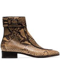 Saint Laurent - Stiefel aus Schlangenleder - Lyst
