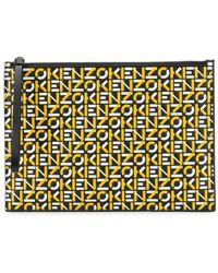 KENZO - ロゴ クラッチバッグ - Lyst
