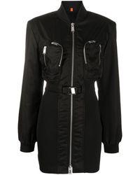 Heron Preston ボンバージャケットドレス - ブラック