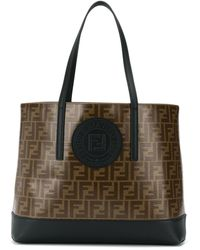 Fendi - Ff Coated Canvas Tote - Lyst