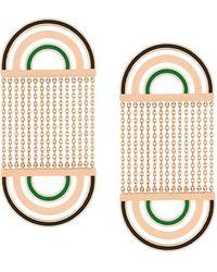 Nevernot 18kt Rose Gold Radiate Earrings - Metallic