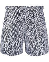 Orlebar Brown Geometric-print Swim Shorts - White
