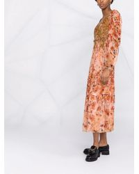 Alberta Ferretti フローラル ドレス - オレンジ