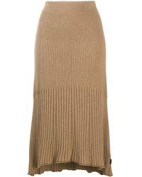Calvin Klein リブニット スカート - ブラウン
