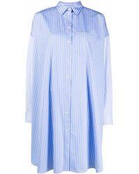 Maison Kitsuné ストライプ シャツドレス - ブルー