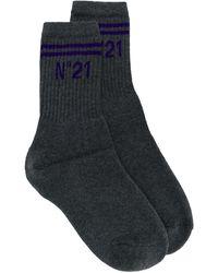 N°21 Logo Socks - Gray