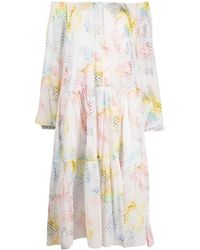 Lala Berlin Dorian Rainbow-pattern Dress - White