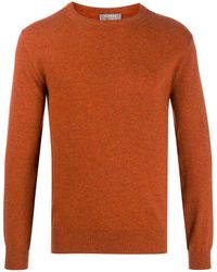 N.Peal Cashmere Long Sleeve Cashmere Sweater - Orange