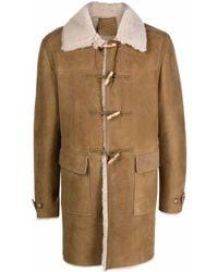 DESA NINETEENSEVENTYTWO Shearling-lined Duffle Coat - Natural