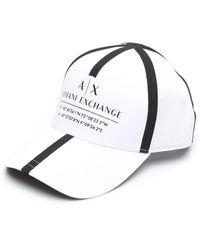 Armani Exchange ロゴ キャップ - ホワイト
