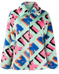 Kirin オールオーバーロゴ ジャケット - ブルー