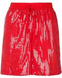 P.A.R.O.S.H. - Sequin Drawstring Shorts - Lyst