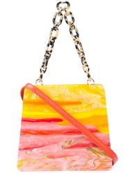 Edie Parker Strukturierte Handtasche - Mehrfarbig