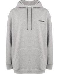 Vetements Худи С Логотипом - Серый