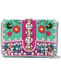 Isla - Embroidered Shoulder Bag - Lyst