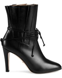 Gucci Gathered Upper Ankle Boots - Black