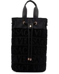 Versace ドローストリング ビーチバッグ - ブラック