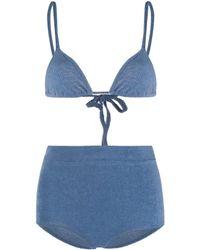 Jil Sander Towel Two-piece Bikini - Blue