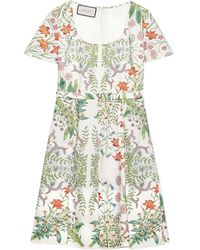 Gucci New Flora Print Midi Dress - White