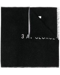 Givenchy Two-tone Logo Scarf - Black