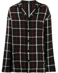 Balenciaga Oversized Pajama Shirt - Black